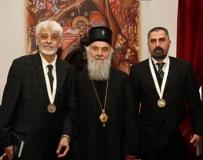 Патријарх Иринеј са носиоцима ордена Светог Стефана