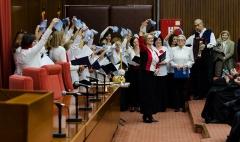Хор словенске песме Лучинушка - поздрав публици