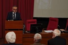 Председник др Љубодраг П. Ристић подноси извештај о раду Друштва