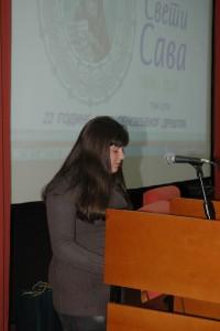 Tatjana Dinic cita svoj rad